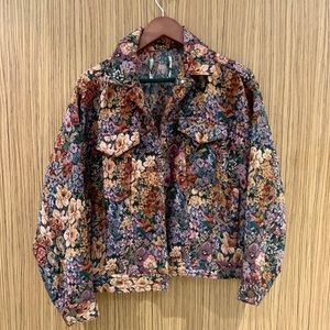 Urban outfitters floral jacket